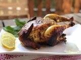 Pollo al romero con relleno de radicchio