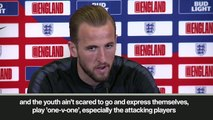 (Subtitled) 'England youngsters fearless' Kane