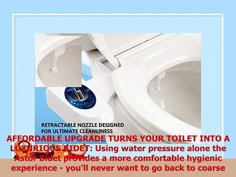 b080134a7e150 Astor Bidet Fresh Water Spray NonElectric Mechanical Bidet Toilet Seat  Attachment CB1000 - video dailymotion