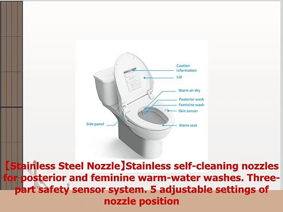 Miraculous Zmjh Electronic Bidet Toilet Seat With Warm Water Air Drying Function Power Saving Onthecornerstone Fun Painted Chair Ideas Images Onthecornerstoneorg
