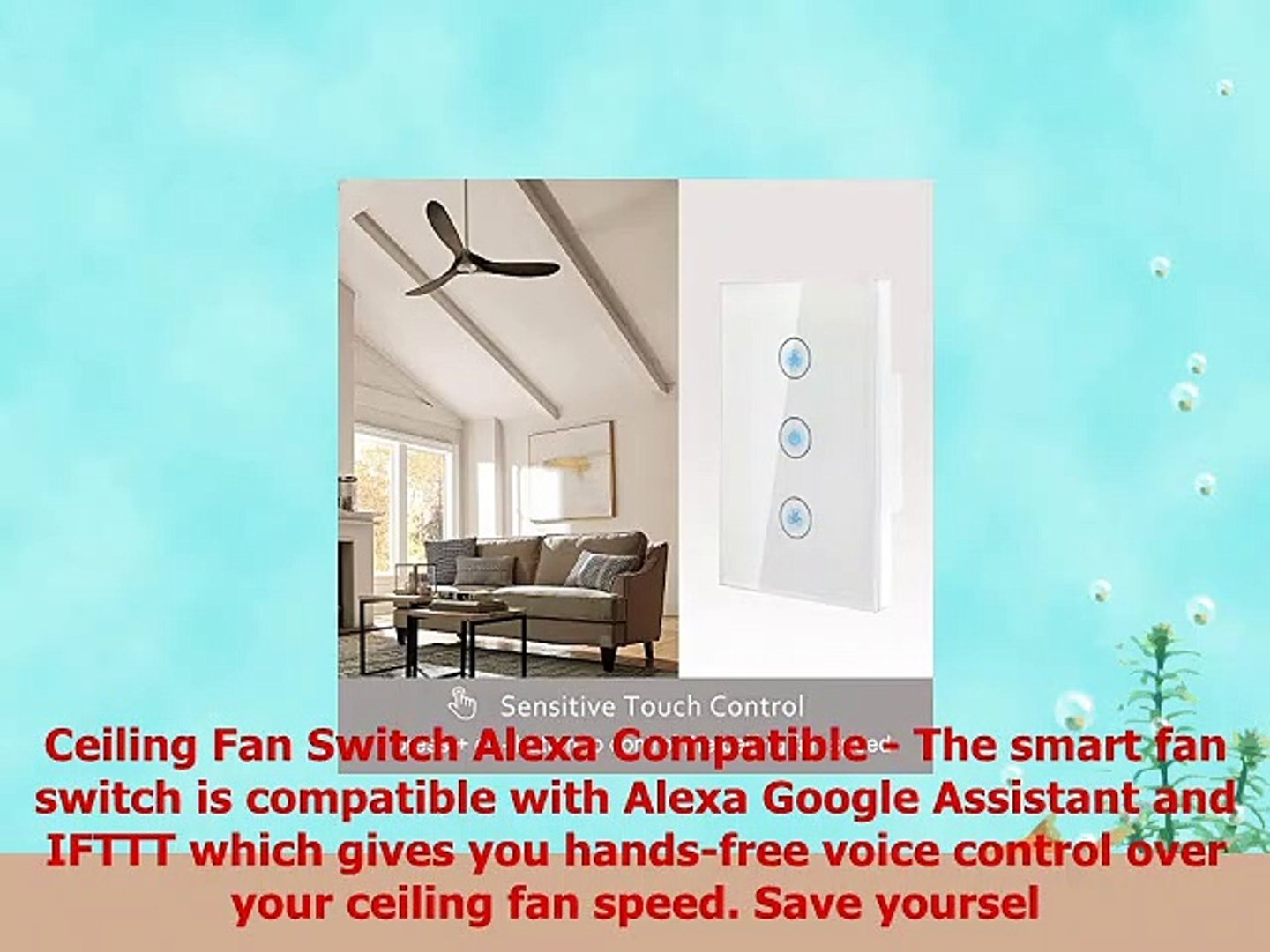 Smart Fan Speed Control Compatible with Alexa and Google Assistant IFTTT  Wifi Enabled - video dailymotion