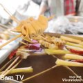 KOREAN STREET FOOD - BEST Spicy Korean Food   Gwangjang Market Street Food Tour in Seoul South Korea