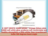CRLight Dimmable 6W 700LM LED Edison Bulb 3200K Soft White 70W Equivalent E26 Medium Base