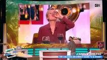 """Après une séquence dans """"C à vous"""" où Anne-Elisabeth Lemoine boit de l'alcool, Cyril Hanouna réagit et... propose la même séquence - Vidéo"""