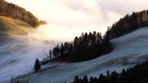 Brouillard matinal sur les Pyrénées