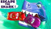 Hot Wheels Race Off Escape the Shark Challenge with Disney Pixar Cars 3 McQueen vs DC Comics Justice League & Marvel Avengers 4 Superheroes in this Racing Challenge - A family friendly full episode english story for kids