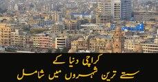 Karachi named sixth cheapest city of world