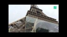 Les premières images de la barrière de verre installée autour de la Tour Eiffel