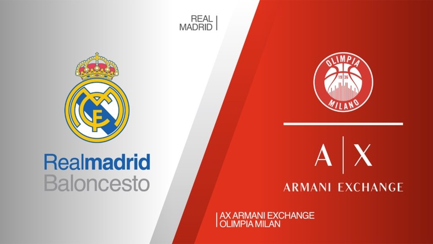 Real Madrid - AX Armani Exchange Olimpia Milan Highlights | Turkish Airlines EuroLeague RS Round 27
