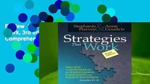 Review  Strategies That Work, 3rd edition: Teaching Comprehension for Engagement, Understanding,