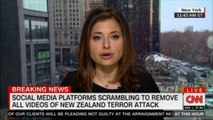 Cristina Alesci speaks on Social Media platforms scrambling to remove all videos of New Zealand terror attack. #NewZealand #Breaking #News #SocialMedia #Facebook @CristinaAlesci #CNN