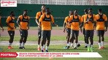 Football : Séance d'entrainement des Eléphants de Côte d'Ivoire pour affronter le Rwanda et le Libéria