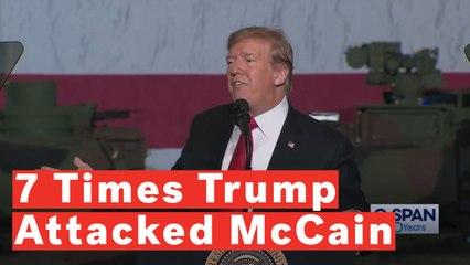 7 Times Donald Trump Attacked John McCain