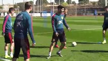 Spain train ahead of the Euro 2020 Group F qualifier against Norway