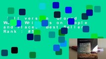 Full version  Ground Work: Writings on People and Places  Best Sellers Rank : #5