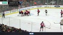 Bruins Firing Puck On Net, Getting Good Chances