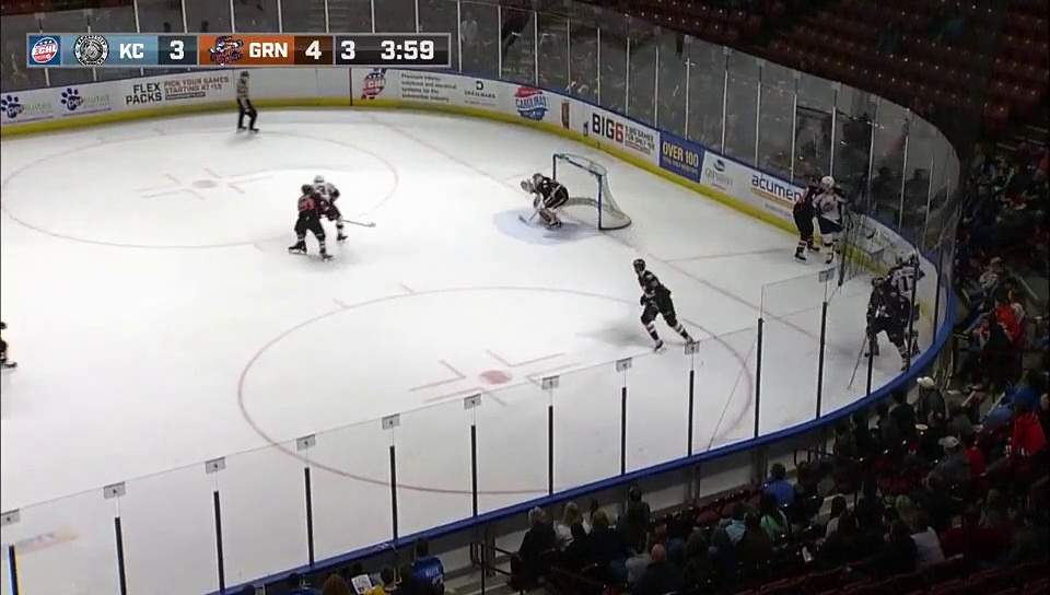ECHL Kansas City Mavericks 3 at Greenville Swamp Rabbits 5