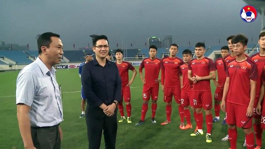 Chưa đá, chủ tịch tập đoàn Asanzo đã thưởng nóng cho U23 Việt Nam | VFF Channel