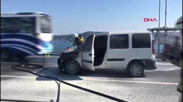 15 Temmuz Şehitler Köprüsünde Polis Aracı Yandı- 2