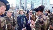 Annecy (Haute-Savoie) : la ministre des Armées en visite au 27e BCA