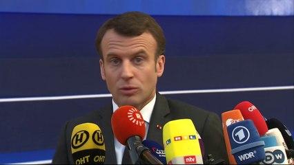 Arrivée au Conseil européen | Emmanuel Macron