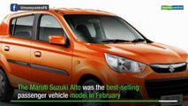 Alto best selling PV model in February; Maruti makes clean sweep of top six spots