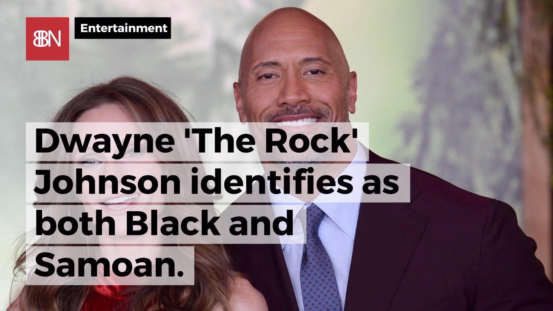 Dwayne Johnson Identifies Himself In 2 Important Ways