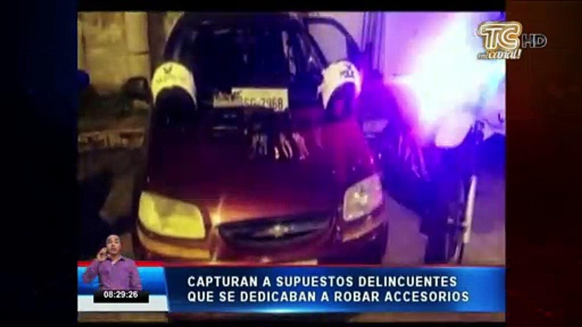 Menor de edad fue capturado presuntamente por formar parte de una banda de robo de accesorios de car