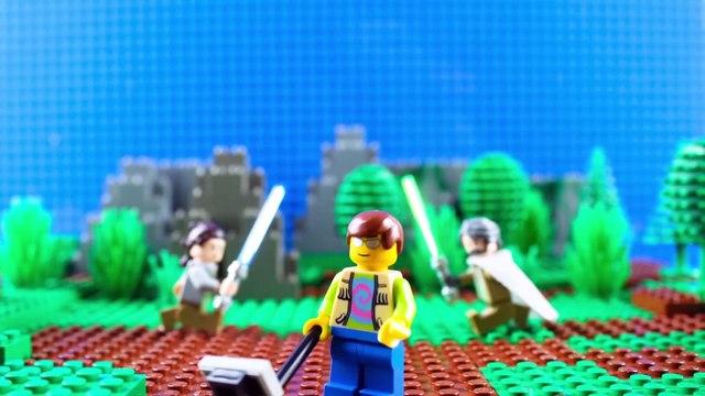LEGO Star Wars Rey Meets Luke Skywalker STOP MOTION W/ Rey & Luke | LEGO Star Wars | By LEGO Worlds