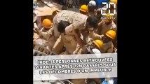 Inde: Trois personnes retrouvées vivantes après près de 70h passées sous les décombres d'un immeuble