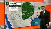 Locally severe storms to rumble across southern Plains