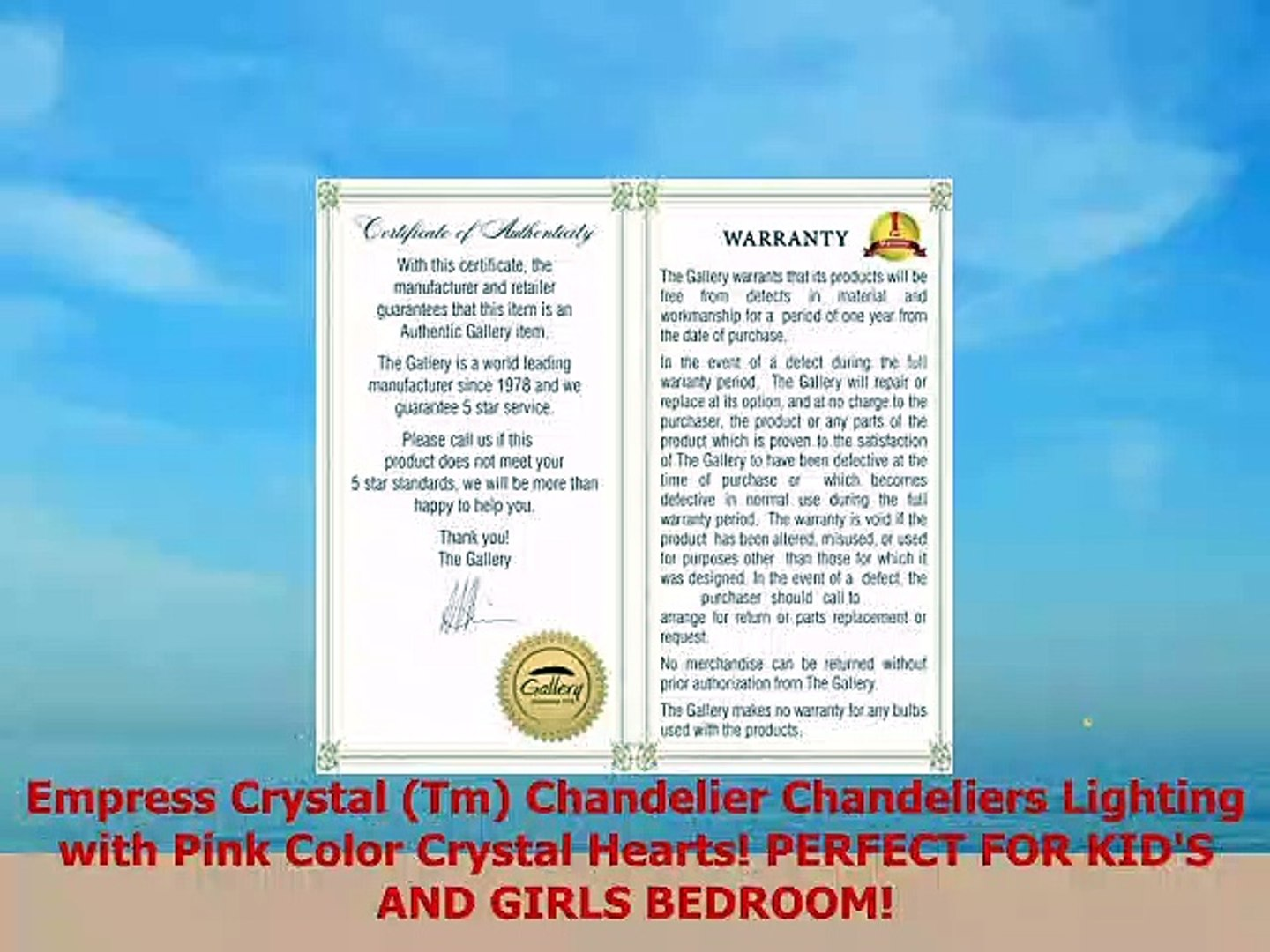 Empress Crystal Chandeliers Lighting with Pink Color Crystal Hearts! Tm