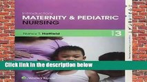 Library  Introductory Maternity and Pediatric Nursing (Lippincott s Practical Nursing) - Nancy T.