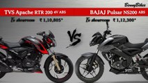 2019 TVS Apache RTR 200 4V ABS Race Edition 2.0 VS 2019 Bajaj Pulsar NS200 ABS