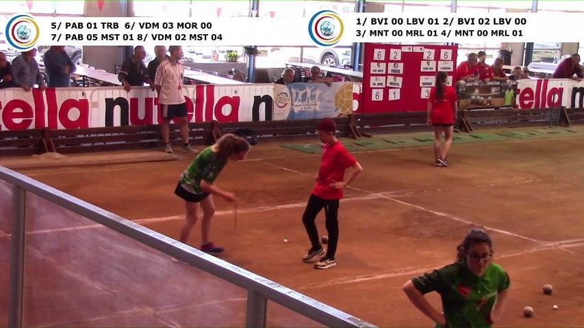 Premier tour, simple et tradipoint, demi-finales,  France Clubs Jeunes, Eybens 2019