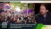 "Pablo Iglesias: ""Perdéis prestigio cada vez que un periodista de cloaca como Eduardo Inda va al programa"