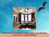 LED Acrylic Chandeliers Ceiling Light Lamp Pendant Lamp with 5 Lights White