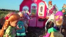 Cheval De L'Alimentation Et De Lavage ! Elsa & Anna les tout-petits - Vaseux cheval de la Ferme Jeu - Écurie - Grange - Manger