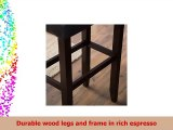 Finley Home Palazzo 32 Inch Extra Tall Saddle Bar Stool