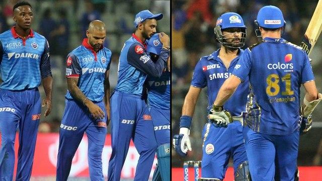 IPL 2019 : Delhi Capitals Versus Mumbai Indians Match Highlights