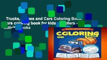 Trucks, Planes and Cars Coloring Book: Cars coloring book for kids   toddlers - activity books