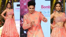 Hina Khan walks the ramp with Priyank Sharma at Bombay Times Fashion Week 2019 | FilmiBeat