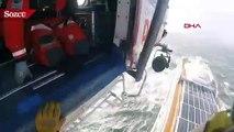 Viking Sky gemisindekileri helikopter ile kurtarma çalışmaları kamerada