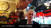 MAGICIEN close up animation séminaire entreprise magie close up table en talbe de triche animation casino poker Francky Le tricheur championnat de France de magie 2019 congrès FFAP P