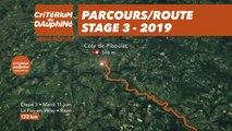 Parcours /Route - Étape 3/Stage 3 : Critérium du Dauphiné 2019