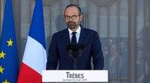 Trèbes et Carcassonne : un an après, la commémoration des attentats par Édouard Philippe