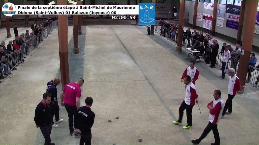 Finale, huitième étape du Super 16 masculin, Saint-Michel de Maurienne 2019