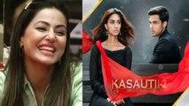 Hina Khan celebrates her win at the Indian Telly Awards in Kasautii Zindagii Kay 2 set | FilmiBeat