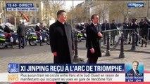 Emmanuel Macron et Xi Jinping sont arrivés à l'Arc de Triomphe