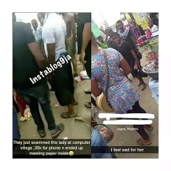 Young Girl Discovers Paper Inside A N35k Phone She Bought At Computer Village, Ikeja (Watch Video)